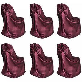 Set 6 huse scaune pentru evenimente, Burgundy