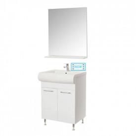 Set Baza, lavoar baie GN0551 si oglinda GN0671 - 60 cm alb