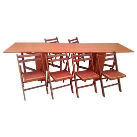 Set masa plianta de 12 persoane cires