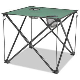 Set mobilier camping pliabil, 5 piese, verde, oțel, 45x45x70 cm