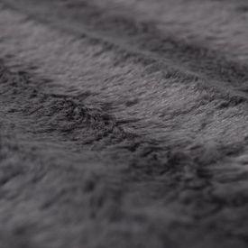 Set pătură și 2 perne din blană artificială, Gri