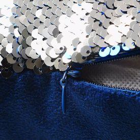 Set perne cu paiete, 2 buc., 60 x 60 cm, albastru și argintiu