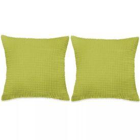 Set perne decorative 2 buc. Velur 45 x 45 cm Verde