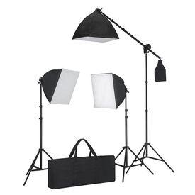 Set Studio: Fundal alb 3 Becuri Lumina zilei şi Reflector