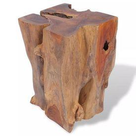 Taburet din lemn de tec solid 30 x 30 x 40 cm