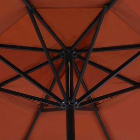 Umbrelă de exterior cu bază portabilă, cărămiziu