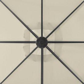 Umbrelă de soare cu 2 pălării, 300 x 300 cm, crem