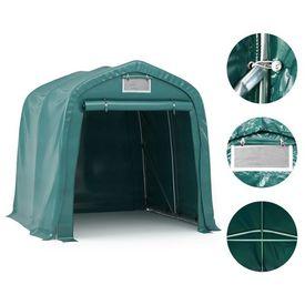 vidaXL Cort de garaj, verde, 1,6 x 2,4 m, PVC