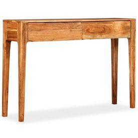 vidaXL Masă consolă din lemn masiv, 118 x 30 x 80 cm
