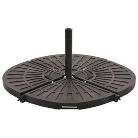 vidaXL Placă de greutate umbrelă, negru, 20 kg, formă evantai
