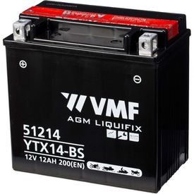 VMF Powersport Liquifix Baterie 12 V, 12 Ah, MF YTX14-BS