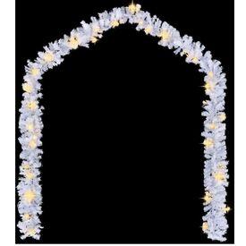 242424 Ghirlandă de Crăciun cu becuri LED, alb, 5 m