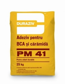 Adeziv pentru BCA și cărămidă Duraziv PM41 - 25 kg