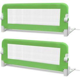 Balustradă de pat protecție copii, 2 buc., verde, 102 x 42 cm