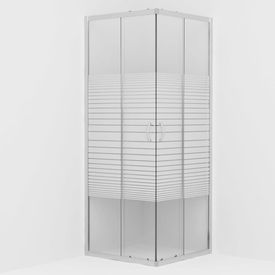 Cabină de duș, 80 x 80 x 185 cm, sticlă securizată