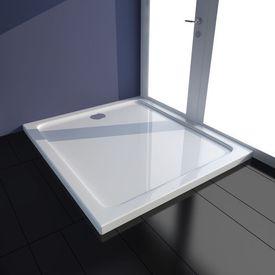 Cădiță duș dreptunghiulară ABS 80 x 90 cm Alb