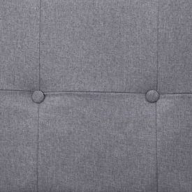 Canapea extensibilă cu brațe, gri deschis, poliester