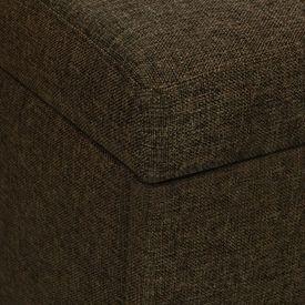 Canapea extensibilă din material textil cu trei locuri, maro