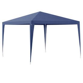 [casa.pro]® Pavilion gradina AAGP-9601, 300 x300 x 255 cm, metal/polietilena, albastru inchis