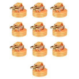 Chingi fixare cu clichet, 10 buc., 2 tone, 6mx38 mm, portocaliu