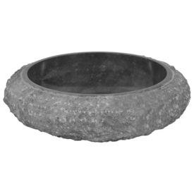 Chiuvetă, negru, 40 x 12 cm, marmură