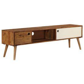 Comodă TV, 140x50x35 cm, lemn masiv de palisandru