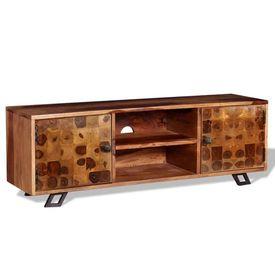 Comodă TV din lemn de sheesham masiv, 120 x 30 x 40 cm