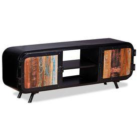 Comodă TV din lemn masiv reciclat 120 x 30 x 45 cm