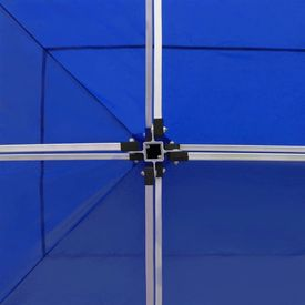Cort de petrecere pliabil profesional albastru 6x3 m aluminiu