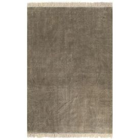 Covor Kilim, gri taupe, 120 x 180 cm, bumbac