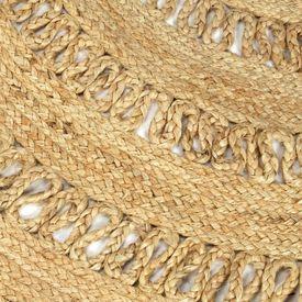 Covor manual din iută împletită, 150 cm