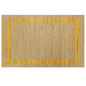 Covor manual, galben, 160 x 230 cm, iută