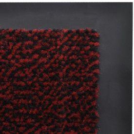Covor ușă intrare aderent dreptunghiular 120 x 90 cm Roșu