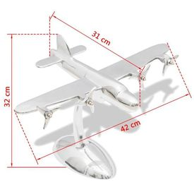 Decorațiune de birou model avion din aluminiu