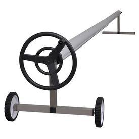 Derulator de prelată pentru piscină cu suport din oțel