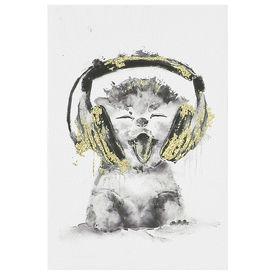 Design fotografie de perete imprimata pe hartie pergament - pisicuta - cu rama ascunsa - 45x30x2,8cm