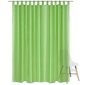 Draperie transparentă, 290 x 175 cm, verde, 2 buc.