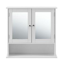Dulap baie Beatrice, 58 x 56 x 13 cm, placa MDF, lacuit, alb, montabil pe perete