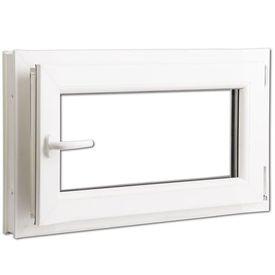 Fereastră batantă PVC 2 foi de sticlă cu mâner pe stânga 800 x 500 mm