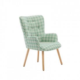 Fotoliu design textil verde cu model GL BRANDO