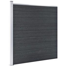 Gard de grădină, gri, 180 x 186 cm, WPC