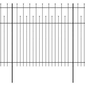 Gard de protecție ornamental tip palisadă, oțel, 600x200 cm