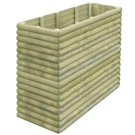 Jardinieră grădină, 150x56x96 cm, lemn de pin tratat 19 mm