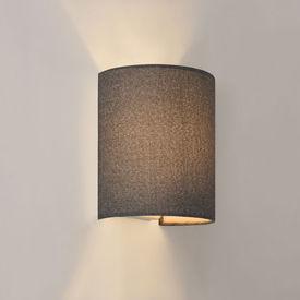 [lux.pro] Lampa de perete Noki, 1 x E27 max. 60W , 20 x 17.5 x 13 cm, textil, semicerc, gri