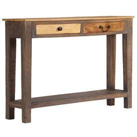 Masă consolă din lemn masiv, vintage, 118 x 30 x 80 cm