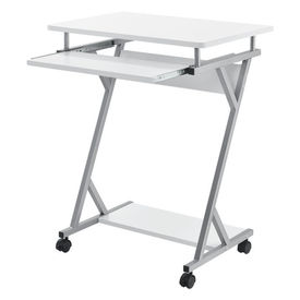 Masa pentru calculator AACT-7902, 60 x 40 x 75 cm, PAL/otel sinterizat, alb