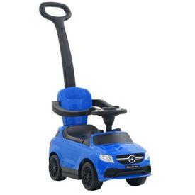 Mașinuță ride-on, Bară împingere, Mercedes Benz GLE63 Albastru