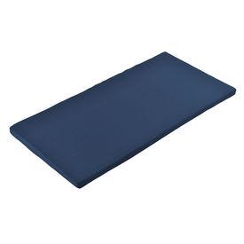[neu.haus] Perna pentru banca, 100 x 48 x 4 cm, 67% PVC / 33% polietilena, albastru inchis