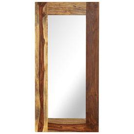 Oglindă, lemn masiv de sheesham, 50 x 110 cm