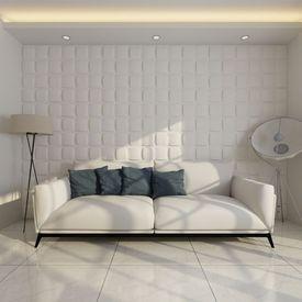 Panou decorativ 3D pătrat, 0,5 m x 0,5 m, 24 plăci 6 m²